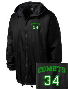 Crain Middle School Comets Embroidered Dickies Men's Fleece-Lined Hooded Jacket