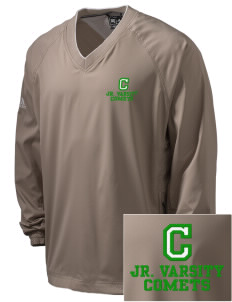 Crain Middle School Comets Embroidered adidas Men's ClimaProof V-Neck Wind Shirt