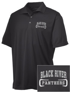 Black River High School Panthers Embroidered Men's Double Mesh Polo