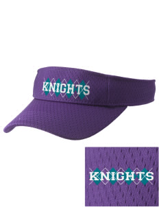 North Cedar Middle School Knights Embroidered Woven Cotton Visor