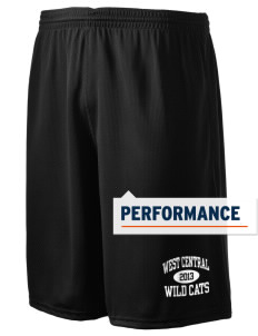 "West Central Middle School Wild Cats Holloway Men's Speed Shorts, 9"" Inseam"