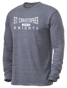 Saint Christopher Academy Knights Alternative Men's 4.4 oz. Long-Sleeve T-Shirt