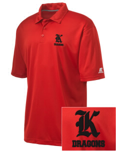 Kingsway Middle School Dragons Embroidered Russell Coaches Core Polo Shirt