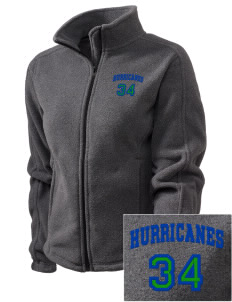 Fontainebleau Junior High School Hurricanes Embroidered Women's Fleece Full-Zip Jacket