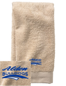 Alden Middle School Bulldogs  Embroidered Zero Twist Resort Hand Towel