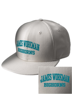 James Workman Middle School Bighorns  Embroidered New Era Flat Bill Snapback Cap