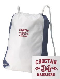 Choctaw Middle School Warriors Embroidered Holloway Home and Away Cinch Bag