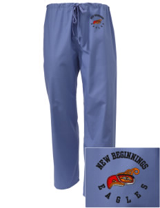 New Beginnings School Eagles Embroidered Scrub Pants