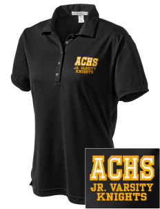 A-C Central High School Knights  Embroidered Women's Bamboo Charcoal Birdseye Jacquard Polo