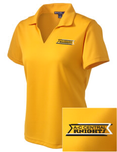A-C Central High School Knights Embroidered Women's Dri Mesh Polo