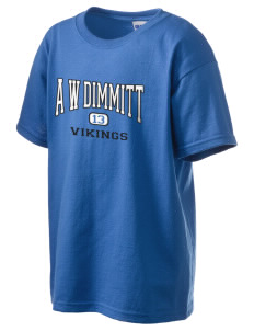 A W Dimmitt Middle School Vikings Kid's 6.1 oz Ultra Cotton T-Shirt