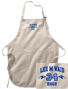 Lee M Waid Elementary School Hogs Embroidered Full-Length Apron with Pockets