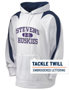 Stevens Elementary School Huskies Holloway Men's Sports Fleece Hooded Sweatshirt with Tackle Twill