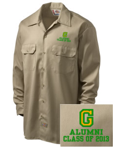 Glendale Adventist Academy Cougars Embroidered Dickies Men's Long-Sleeve Workshirt