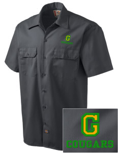 Glendale Adventist Academy Cougars Embroidered Dickies Men's Short-Sleeve Workshirt