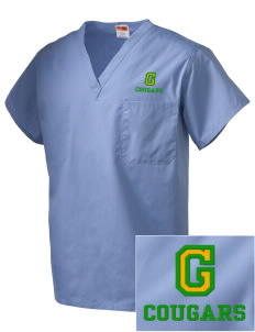 Glendale Adventist Academy Cougars Embroidered V-Neck Scrub Top