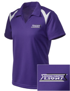 Redding Christian School Lions Embroidered Holloway Women's Laser Polo
