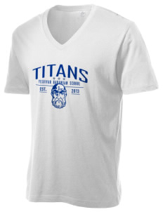 Yeshivah Harambam School Titans Alternative Men's 3.7 oz Basic V-Neck T-Shirt