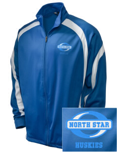 North Star Elementary School Huskies Embroidered Holloway Men's Tricotex Warm Up Jacket