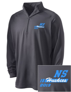 North Star Elementary School Huskies Embroidered Men's Stretched Half Zip Pullover