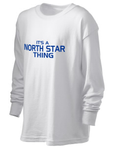 North Star Elementary School Huskies Kid's 6.1 oz Long Sleeve Ultra Cotton T-Shirt