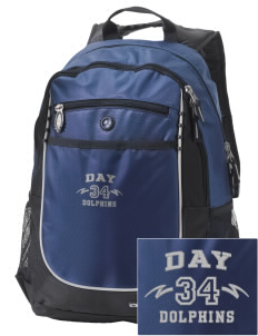 Day Middle School Dolphins Embroidered OGIO Carbon Backpack