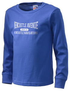 Newcastle Avenue Elementary School Newcastle Navigators  Kid's Long Sleeve T-Shirt