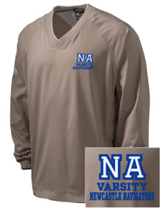 Newcastle Avenue Elementary School Newcastle Navigators Embroidered adidas Men's ClimaProof V-Neck Wind Shirt