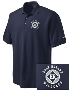 Holy Rosary Academy Wildcats Embroidered Nike Men's Pique Knit Golf Polo