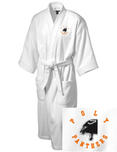 Polytechnic School Panthers Embroidered Terry Velour Robe