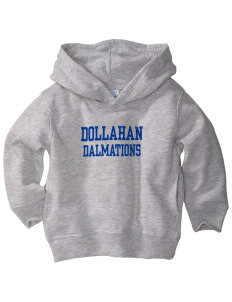 Dollahan Elementary School Dalmations  Toddler Fleece Hooded Sweatshirt with Pockets