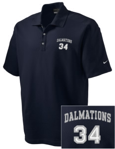 Dollahan Elementary School Dalmations Embroidered Nike Men's Dri-FIT Pique II Golf Polo