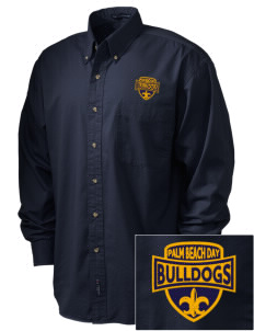 Palm Beach Day Academy Bulldogs Embroidered Men's Twill Shirt