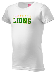 Kingsley Elementary School Lions  Girl's Fine Jersey Longer Length T-Shirt