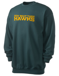 IKM Middle School Hawks Men's 7.8 oz Lightweight Crewneck Sweatshirt