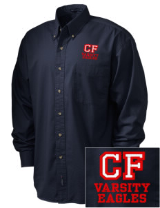 Christian Faith School Eagles Embroidered Tall Men's Twill Shirt