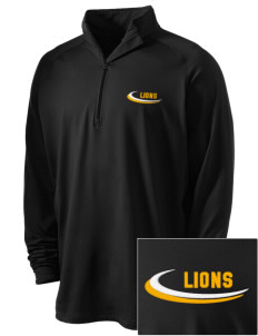 Our Lady Of Lourdes School Lions Embroidered Men's Stretched Half Zip Pullover