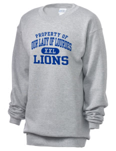 Our Lady Of Lourdes School Lions Unisex 7.8 oz Lightweight Crewneck Sweatshirt