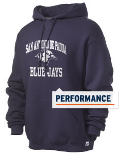 San Antonio De Padua School Blue Jays Russell Men's Dri-Power Hooded Sweatshirt
