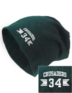 Saint John Of The Cross School Crusaders Embroidered Slouch Beanie