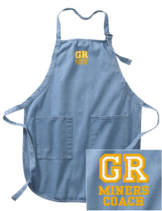 Gold Ridge Elementary School Miners Embroidered Full-Length Apron with Pockets