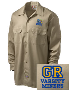 Gold Ridge Elementary School Miners Embroidered Dickies Men's Long-Sleeve Workshirt