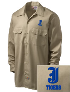 Jesuit High School Tigers Embroidered Dickies Men's Long-Sleeve Workshirt