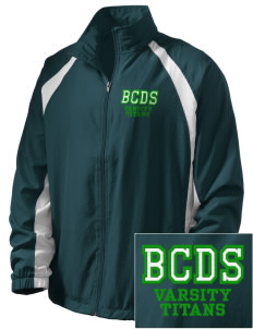 Bayside Community Day School Trojans  Embroidered Men's Full Zip Warm Up Jacket