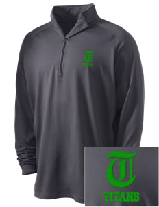 Bayside Community Day School Trojans Embroidered Men's Stretched Half Zip Pullover