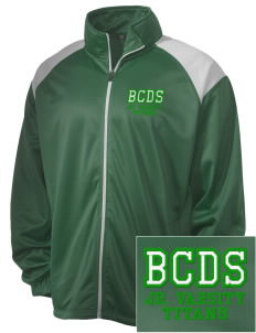 Bayside Community Day School Trojans Embroidered Men's Tricot Track Jacket