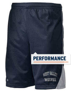 "West Valley Middle School Wolves Holloway Men's Possession Performance Shorts, 9"" Inseam"