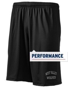 "West Valley Middle School Wolves Holloway Men's Performance Shorts, 9"" Inseam"