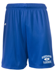 "Ridgemoor Elementary School Roadrunners  Russell Men's Mesh Shorts, 7"" Inseam"