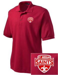 Saint Ansgar Middle School Saints Embroidered Men's Silk Touch Polo